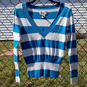 Blue & White Striped Sweater